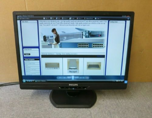 "Phillips 220S2 220S2CB/00 Brilliance S-Line 22"" LCD TFT LED Widescreen Monitor"